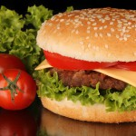 Burger viande , et tomate, fromage
